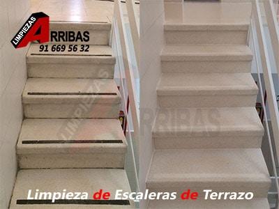 Limpieza de Escaleras de Terrazo en Profundidad