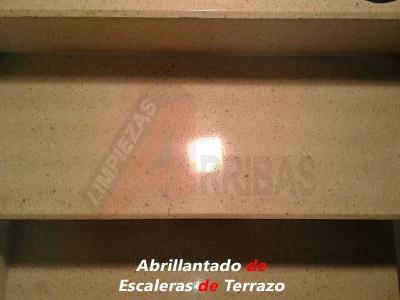 Abrillantado o Cristalizado de Escaleras de Terrazo en Madrid