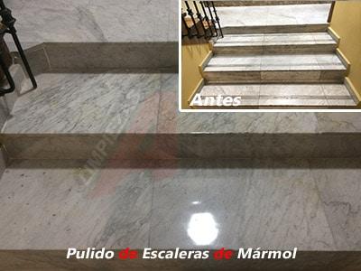 Pulido y Abrillantado de Escaleras de Mármol en Madrid