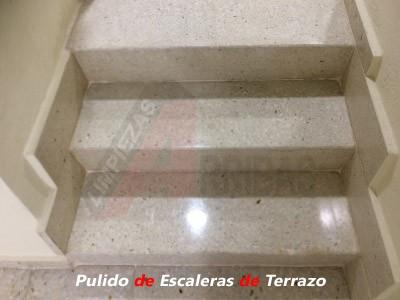 Pulido y Abrillantado de Escaleras de Terrazo en Madrid