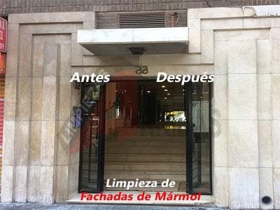Limpieza de Fachadas de Mármol en Madrid
