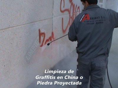 Limpieza de Graffitis en China o Piedra Proyectada