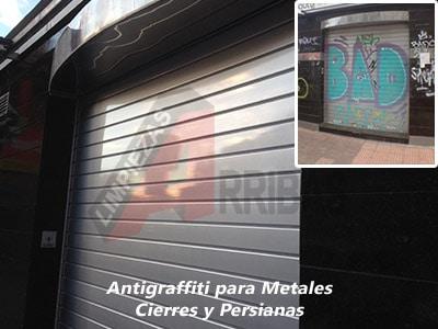 Antigraffiti para Metales - Cierres y Persianas
