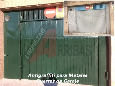 Antigraffiti para Metales - Puertas de Garaje