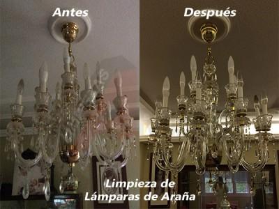 Limpieza de Lámparas de Araña a Domicilio en Madrid